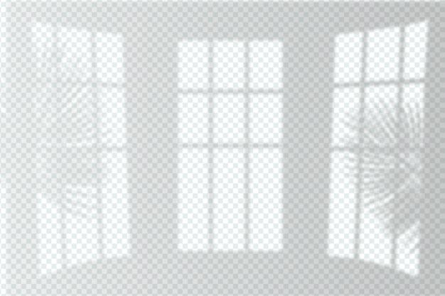 Zwart-wit transparant schaduweffectontwerp