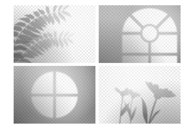 Zwart-wit transparante schaduwen overlay-effect