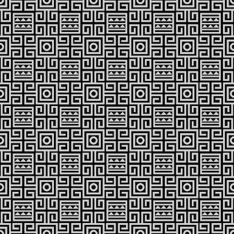 Zwart-wit tribal etnisch naadloos patroon