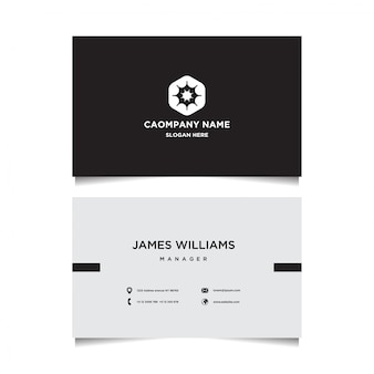 Zwart-wit visitekaartjes sjabloon