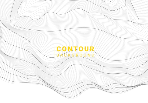 Zwart-witte abstracte de lijnenachtergrond van de kaartcontour