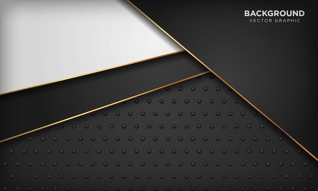 Zwart-witte achtergrond met gouden lijnelement op donkere metaaltextuur. moderne luxe achtergrond.