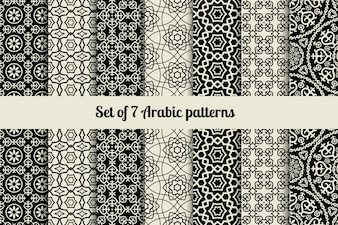 Zwart-witte Arabische stijlpatronen