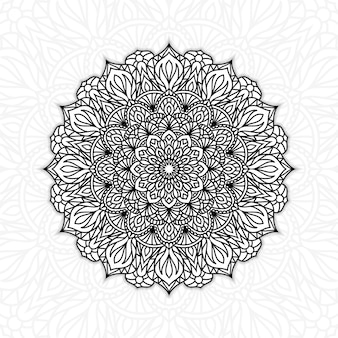 Zwart-witte bloemenmandala