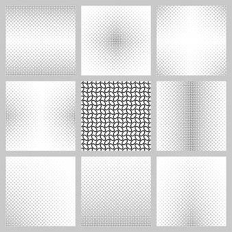 Zwart-witte ellipspatroon achtergrond set