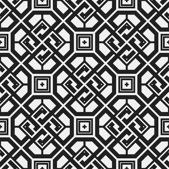 Zwart-witte geometrische patroon achtergrond