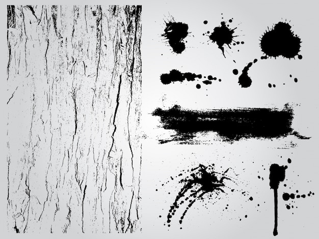 Zwart-witte grunge ontwerpelementen