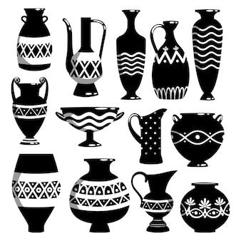 Zwart-witte keramiek kommen