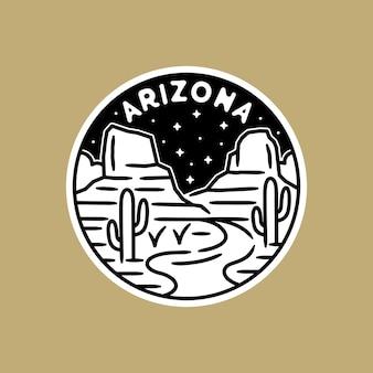 Zwart-witte sticker, met arizona schene.