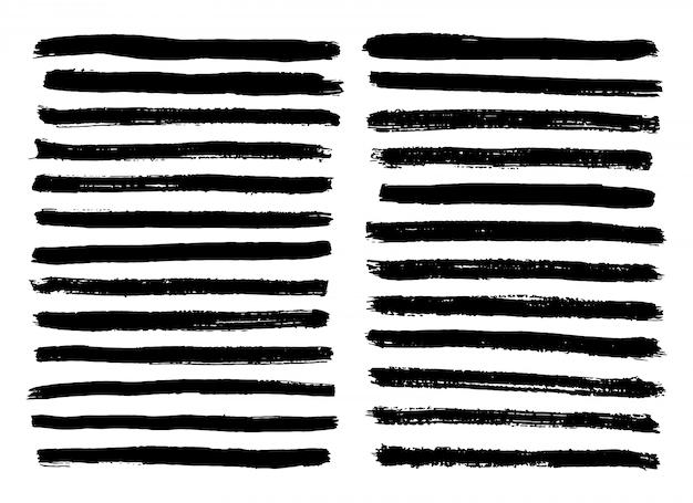 Zwart-witte strepen geplaatst die op witte achtergrond worden geïsoleerd