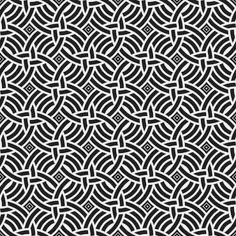 Zwart-witte symmetrische patroon achtergrond
