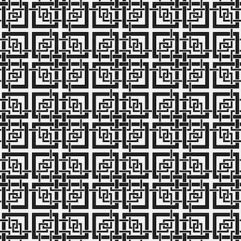 Zwart-witte vierkant patroon achtergrond