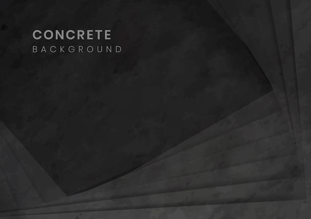 Zwarte 3d concrete moderne achtergrond