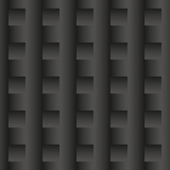 Zwarte abstracte achtergrond. 3d-naadloos geometrisch patroon. vectorillustratie eps10. stijlvolle sjabloon gemaakt van herhalende rechthoeken.