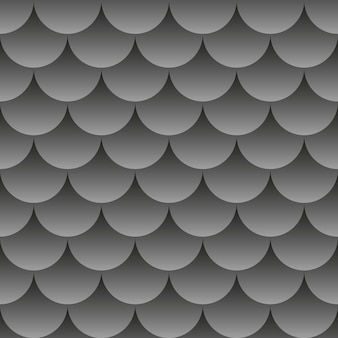 Zwarte abstracte achtergrond. 3d-naadloos geometrisch patroon. vectorillustratie eps10. vissen patroon. vissenschubben.