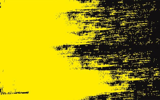 Zwarte abstracte achtergrond met gele grunge