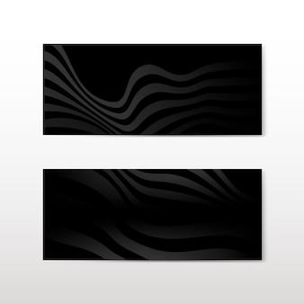 Zwarte abstracte banner ontwerp vectoren