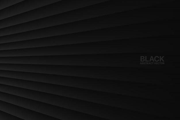 Zwarte abstracte geometrische achtergrond