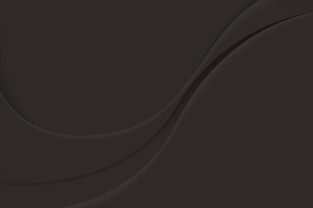 Zwarte abstracte golvende achtergrond