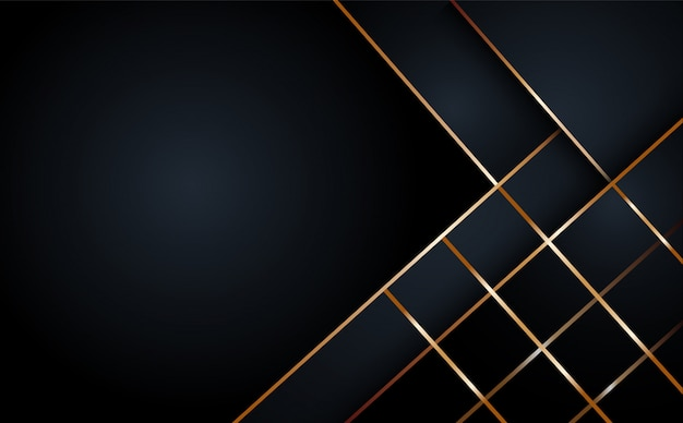 Zwarte abstracte laag geometrische achtergrond