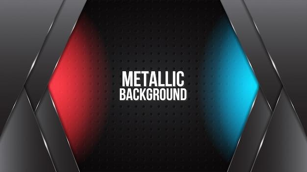 Zwarte abstracte mat geometrische rode en blauwe achtergrond elegante futuristische glanzend rood en blauw