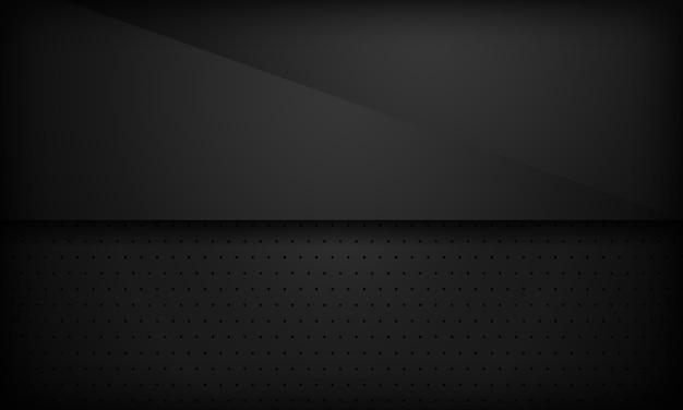 Zwarte abstracte overlappingsachtergrond.