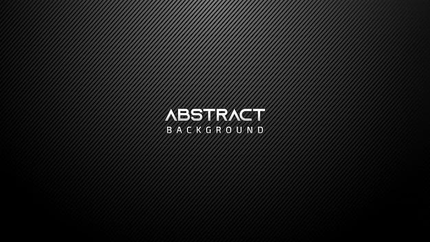 Zwarte abstracte technische achtergrond met diagonale lijnen