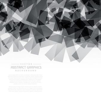 Zwarte abstracte vormen achtergrond