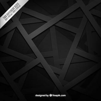 Zwarte achtergrond in geometrische stijl