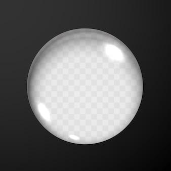 Zwarte achtergrond met glazen lensgat