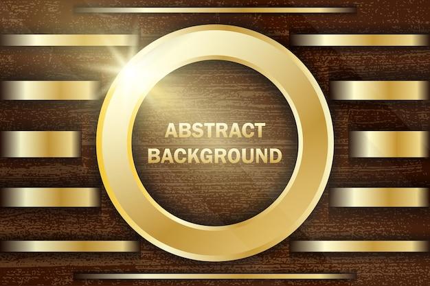 Zwarte achtergrond met gouden lijnen luxe stijl