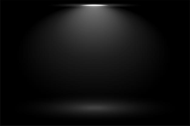 Zwarte achtergrond met het licht van de nadrukvlek