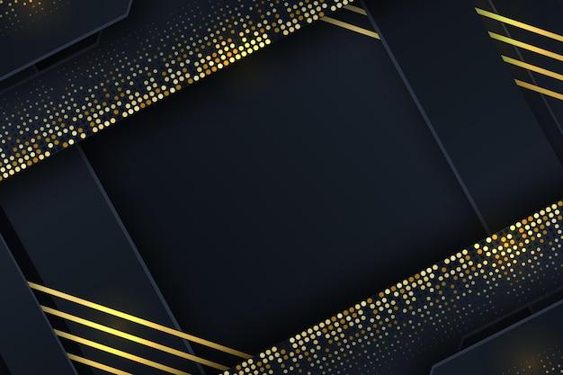 Zwarte achtergrond met kleurovergang met gouden texturen