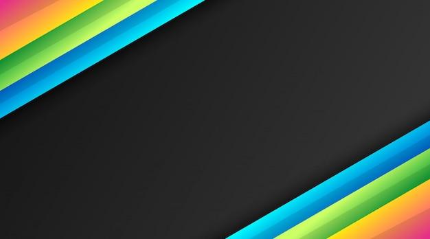 Zwarte achtergrond met kleurrijk verloop