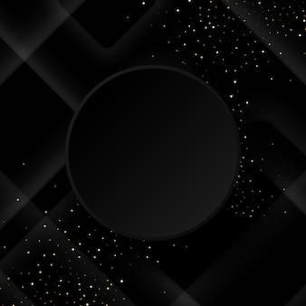 Zwarte achtergrond met luxe zwarte geometrische elementen.