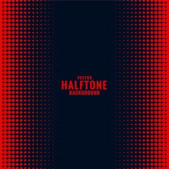 Zwarte achtergrond met rood halftone gradiëntpatroon