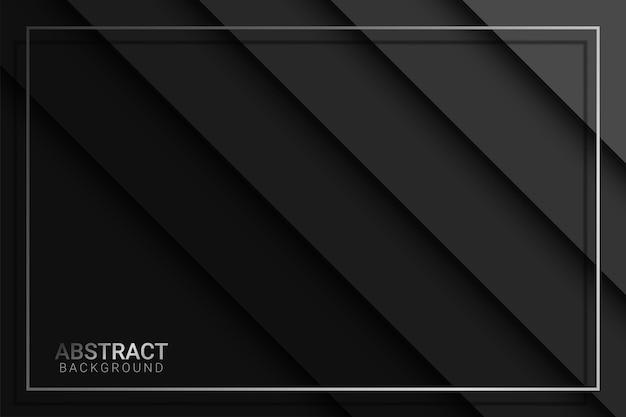 Zwarte achtergrond overlapt afmeting grijs