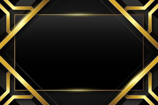 Zwarte achtergronden met gradiënt en gouden frames