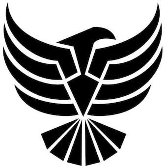 Zwarte adelaar clip art vector illustratie