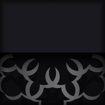 Zwarte ansichtkaart met indiaas ornament