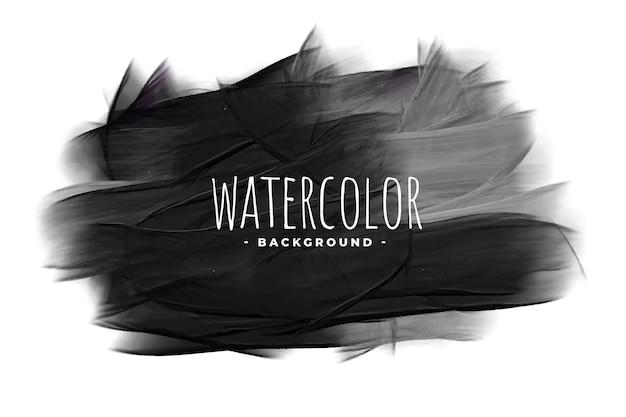 Zwarte aquarel grunge textuur vlek achtergrond