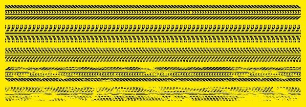 Zwarte autobandensporen set