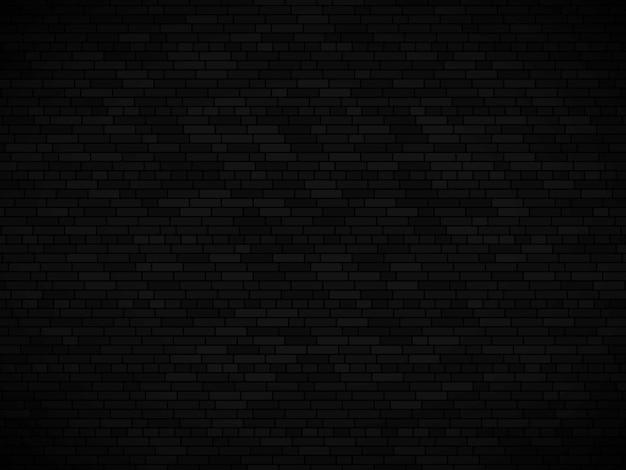 Zwarte bakstenen muur achtergrond. vector bakstenen muur textuur