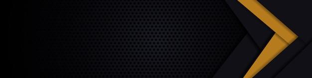 Zwarte banner. donkere koolstofvezel textuur. zwarte het staalachtergrond van de metaaltextuur.