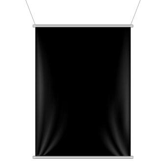 Zwarte banner