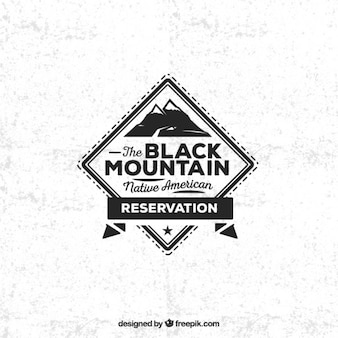 Zwarte berg badge