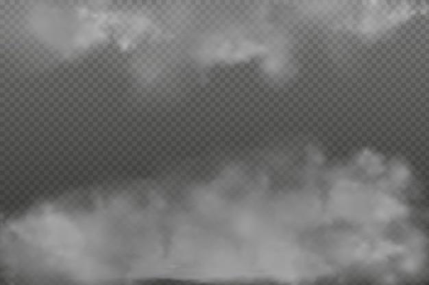Zwarte bewolking, mist of rook