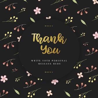 Zwarte bruiloft bedankkaart