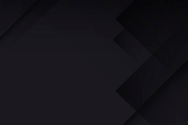 Zwarte bureaubladachtergrond, geometrisch patroonontwerp vector