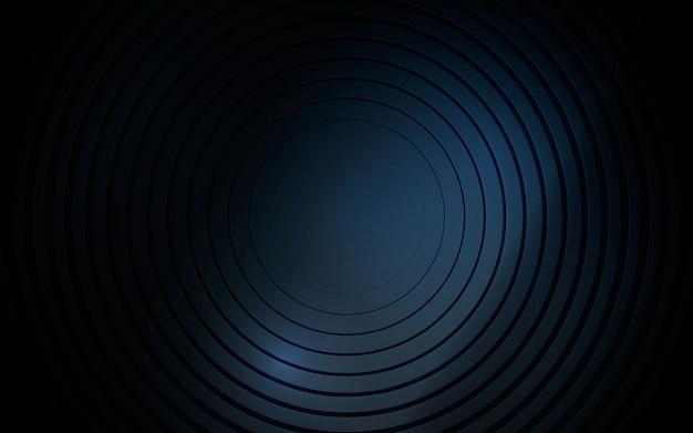 Zwarte cirkel metalen abstracte achtergrond